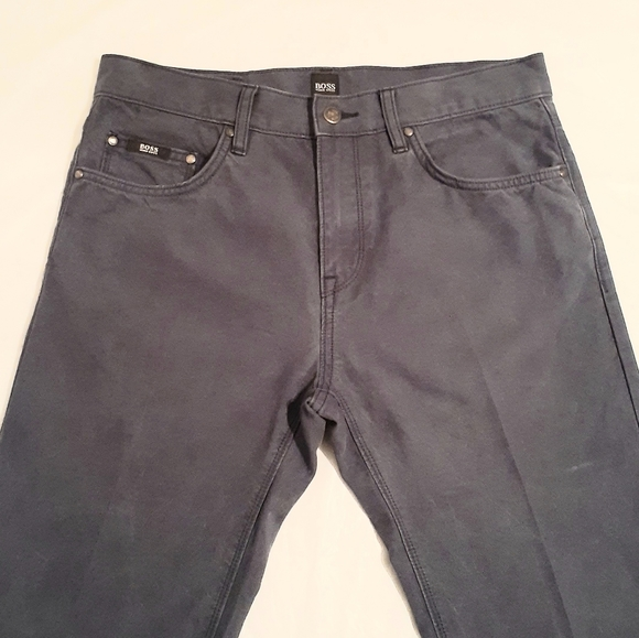 NWT Hugo Boss Men/'s Delaware 3 Slim-Fit Stretch Jeans Dark Navy Blue MSRP $165